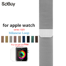 MilanNece loop steel wrist strap for apple watch band 42mm 38mm With protecting movie for iwatch bracelet stainless-steel strap