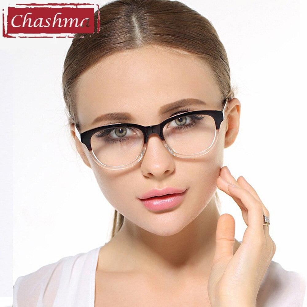 Chashma Sederhana Desain Wanita Kacamata Resep Tren TR90 Kacamata Optik Bingkai  Kacamata Pria Transparan Warna Retro c083bd8413