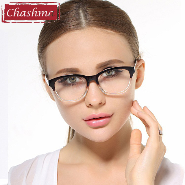 57694e6f9b7 Chashma Simple Design Women Prescription Eyewear Trend TR90 Eyeglasses  Optical Glasses Frames Men Transparent Color Retro