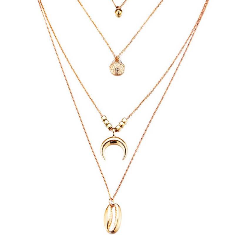 0f620c49e3beb Boho Cowrie Shell Wave Starfish Necklace For Women Choker Minimalist ...