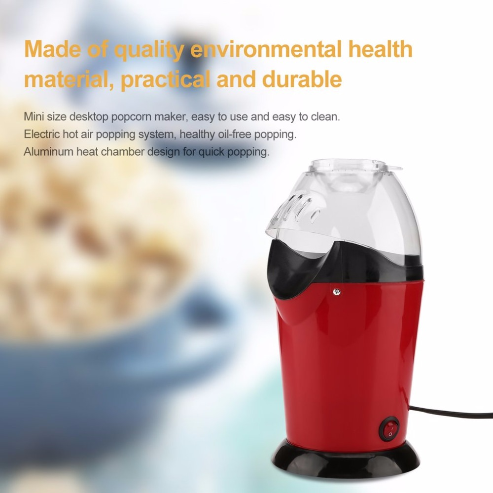 1200W Hot Air Electric Popcorn Maker Mini Popcorn Making Machine Corn Poping Popper US/EU Plug DIY Corn Maker pop 08 commercial electric popcorn machine popcorn maker for coffee shop popcorn making machine