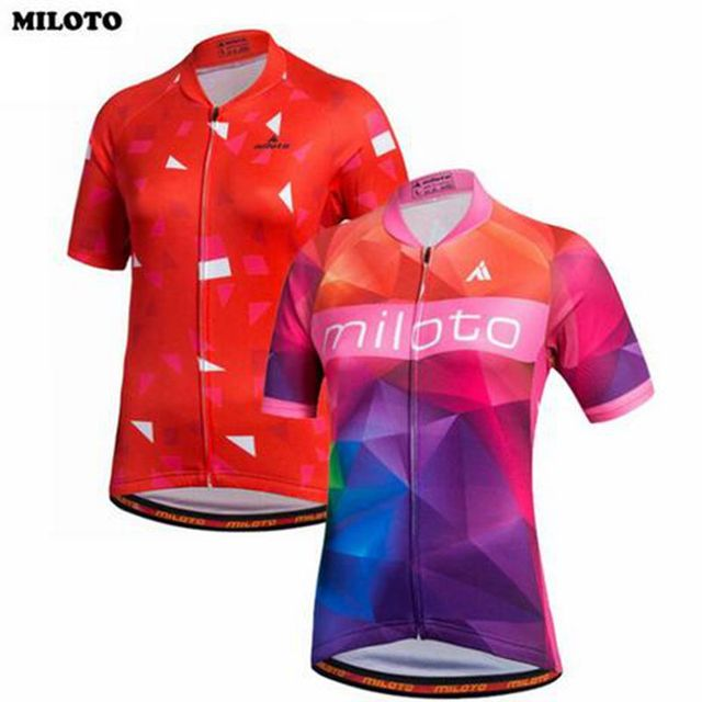 MILOTO Pro Team Short Sleeve Ropa Ciclismo Bike Bicycle Women Girls Tops  Team Outdoor Cycling Jersey Shirts S-4XL ad2cf9dd7