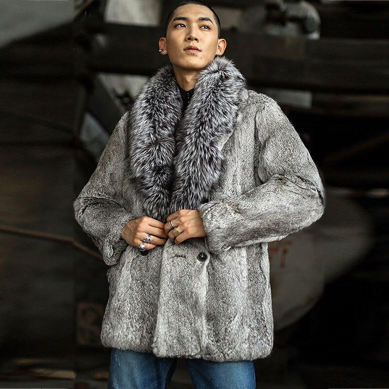 Cuir Véritable Hommes Réel Vestes Qualité 1126 Manteau En Haute Nature D'hiver Lapin Chaud De Black Fourrure qvxwnCAW4O