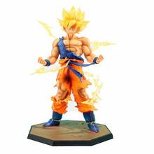 Japão Hot Vendas Anime 18 cm figuras de ação de dragon ball z Goku Super Saiyan PVC Collectible Toy modelo para presente de aniversário(China)