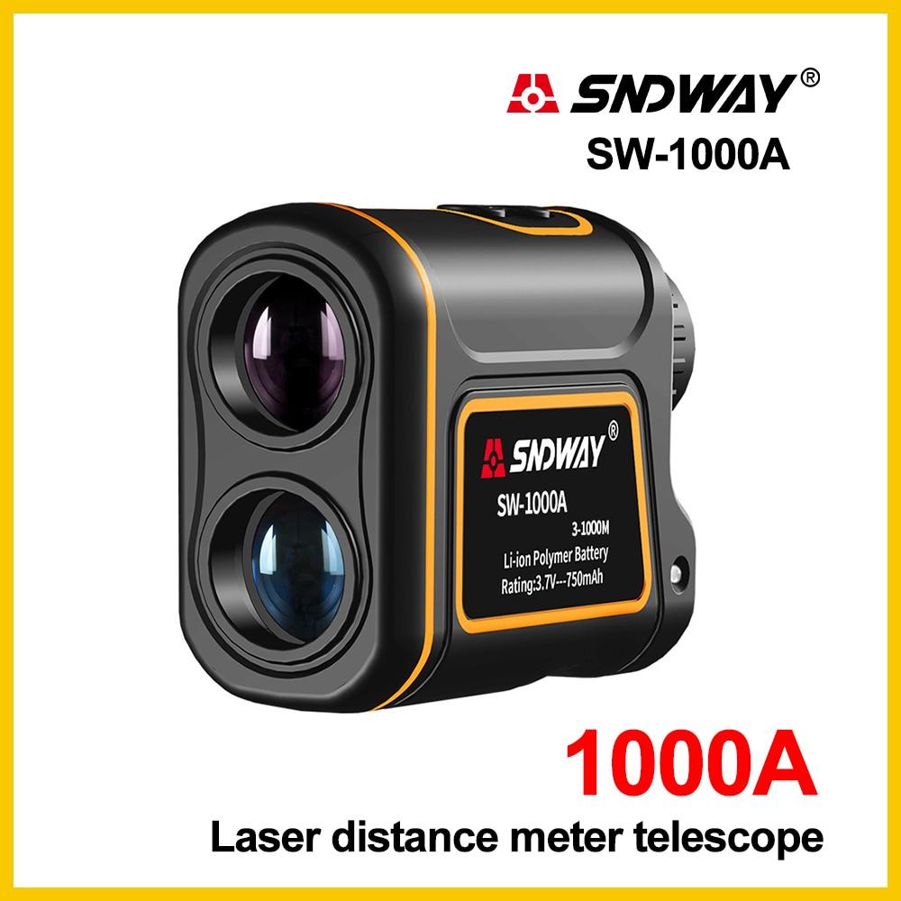 SNDWAY Laser Rangefinder Telescope 1000m Laser Distance Meter building Golf hunting laser Range Finder SW-1000ASNDWAY Laser Rangefinder Telescope 1000m Laser Distance Meter building Golf hunting laser Range Finder SW-1000A