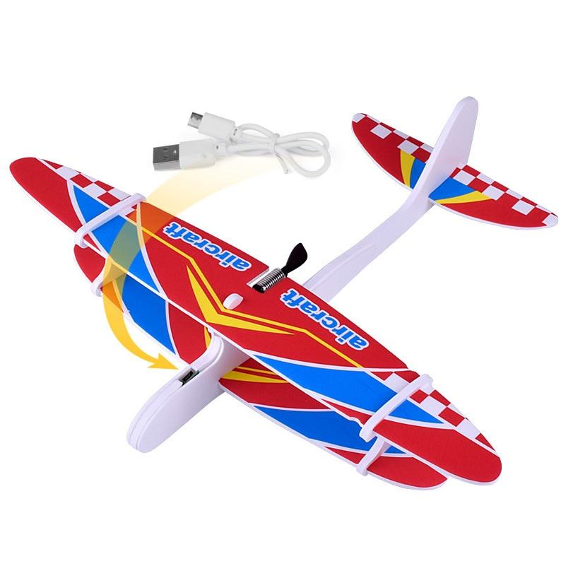 2017 12pcs Diy Hand Throw Flying Glider Planes Foam: New Hand Throw Airplane DIY Electronic Diecast Toy