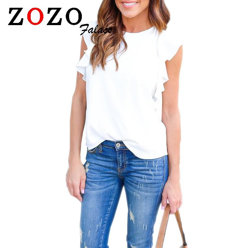 Zozo Falacs Mujeres de Moda de Verano Sin Mangas Ocasional Blusas Camisas Tops R