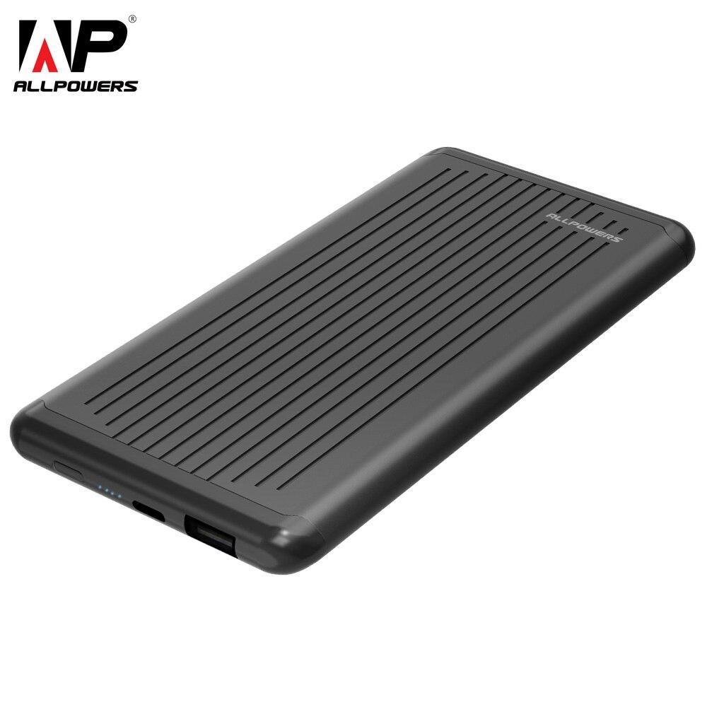 ALLPOWERS 5000 mah Mini Portable Power Bank Batterie Externe Graisse Chargeur De Secours avec Type C Port pour Téléphone Mobile iPhone samsung