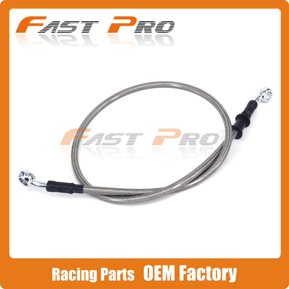 Silver Motorcycle 500mm-2000mm Braided Steel Hydraulic Brake Clutch Radiator Oil Cooler Hose Line Pipe Tube 28 Degree Banjo red 1500mm 2000mm 2300mm motorcycle brake pipe tubing braided steel hydraulic reinforced brake or clutch oil hose line pipe