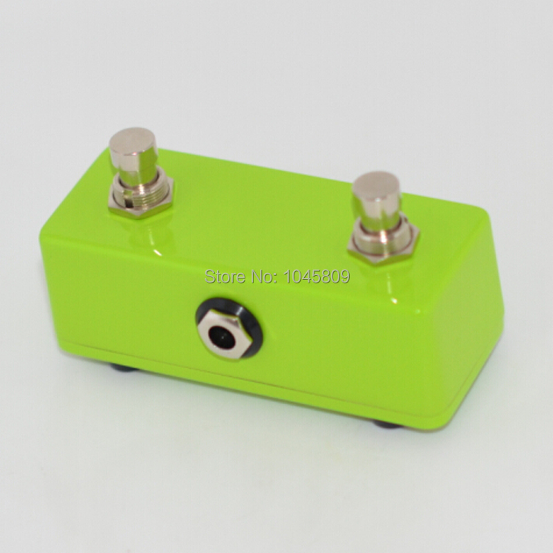 new momentary soft touch push button stomp foot pedal switch dual 2 channel green footswitch. Black Bedroom Furniture Sets. Home Design Ideas