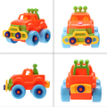 Bebé de plástico coche de juguete camión de montaje desmontaje classic cars toys marca niños regalos caliente