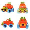 Bebê brinquedo do carro de plástico de montagem desmontagem classic cars truck toys marca crianças presentes hot