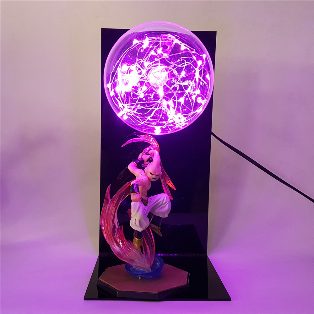 Dragon Ball Majin Buu lumière LED figurines Dragon Ball Z Super Saiyan Buu Dragon Ball Z figurines DBZ esfera Del Dragon jouets