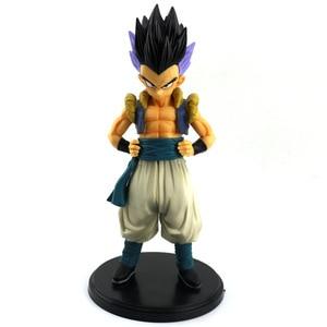 Image 2 - Dragon Ball Z Gotenks Standing Style Action Figure DBZ Goten Trunks Fusion Goku Super Saiyan Collection Model Toys 19cm