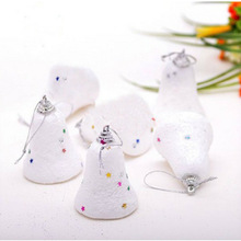300PCS/Lot 50bags Foam Bells Christmas Tree Decorations Pendant Baubles New Year 6pcs per bag