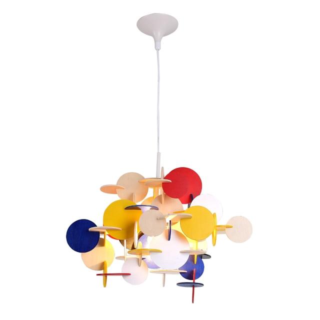 Nordic Moderne Kreative DIY Pendelleuchte Farbe Massivholz Pendelleuchte  Für Schlafzimmer Restaurant Wohnzimmer Dekoration Beleuchtung
