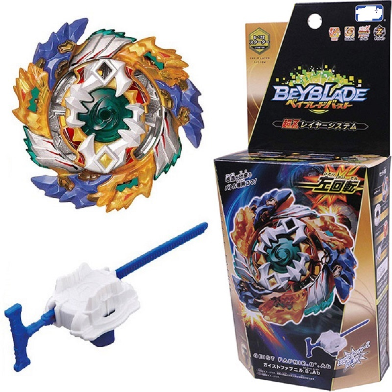 Funny Joy Original Beyblade Burst B-122 Metal Fusion Bayblade Burst With Launcher Kids Fafnir Bey Blade Blades Children Toys