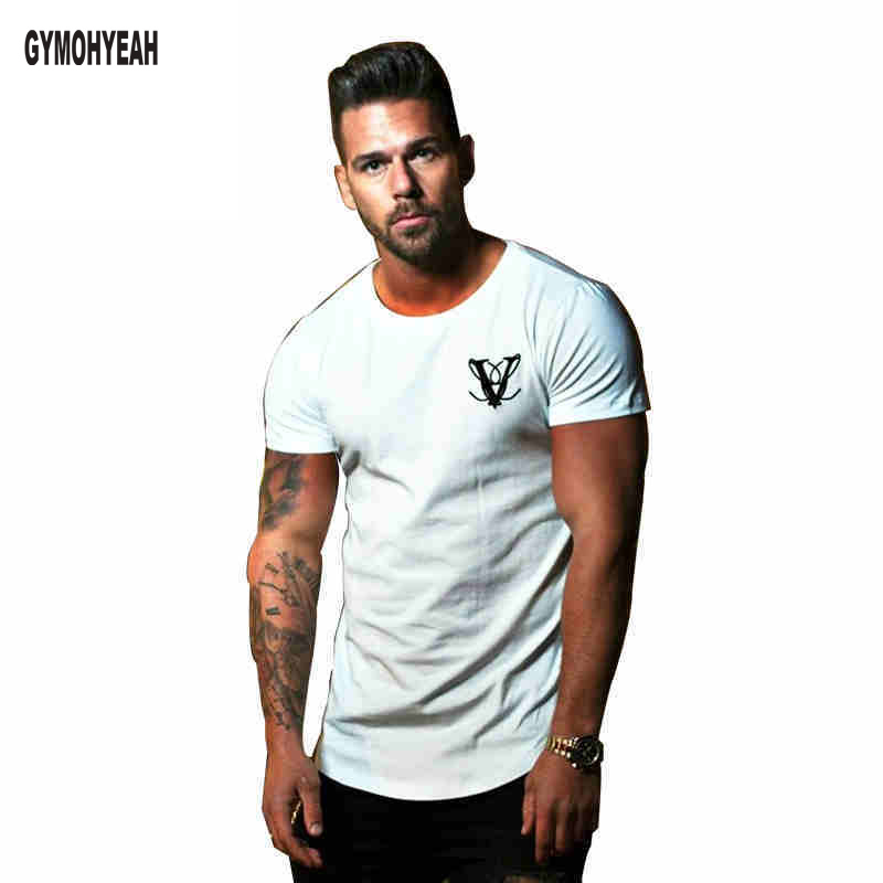 2018 New Mens clothing T-Shirt Bodybuilding sportswear undershirt Casual Cotton Printed Short Sleeve Tee Shirt Men Tee shi