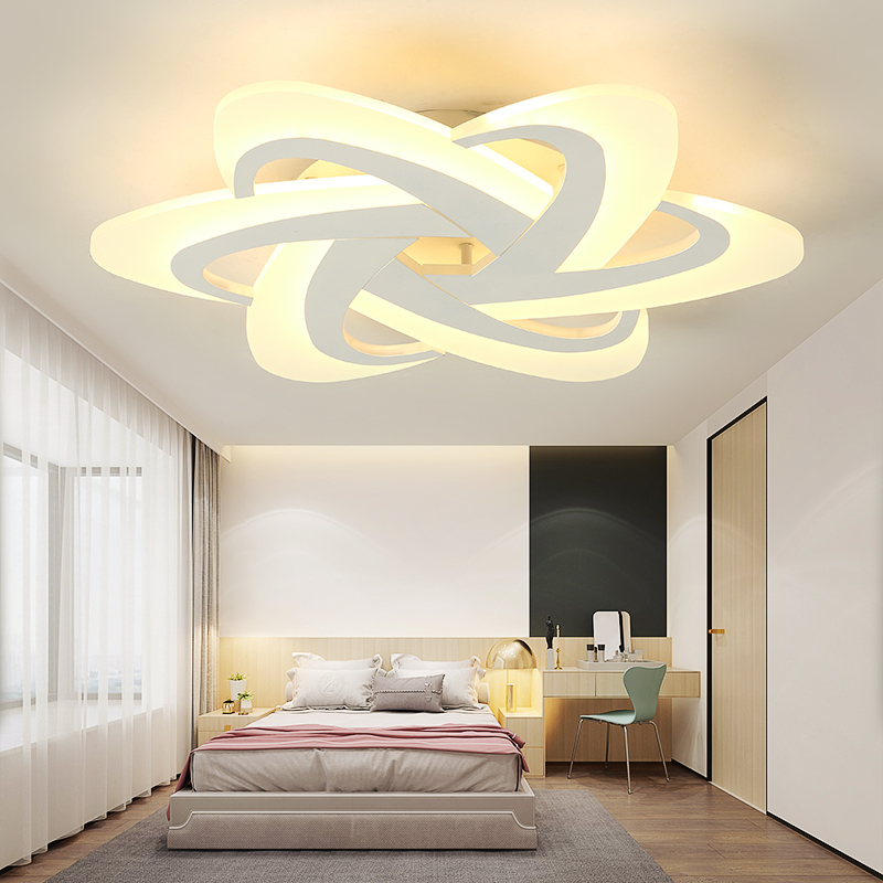 VeiHao Bedroom Light Study Room Led Chandelier lampara de techo led moderna Modern led Ceiling Chandelier Fixtures Free Shipping цена