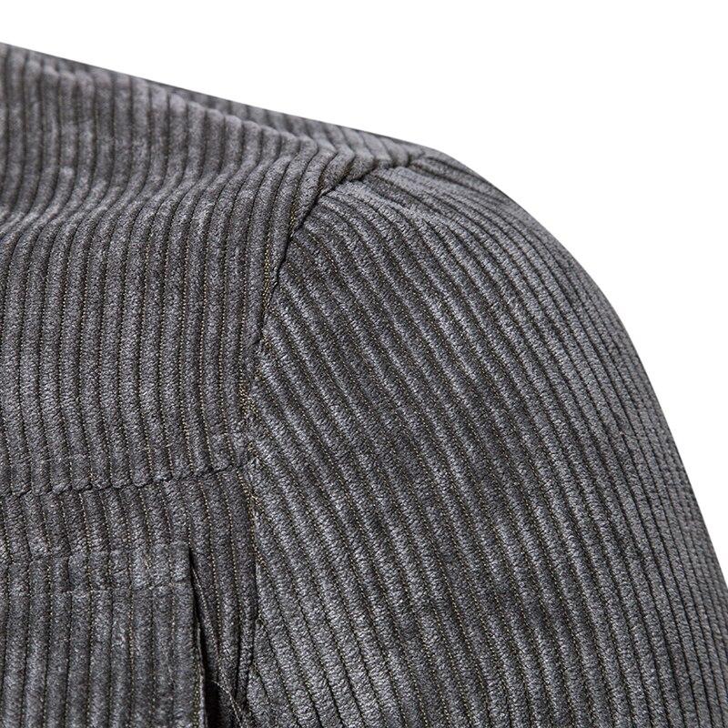 Cordon Manteau De Printemps Velours Casual Mode Brown Côtelé poche Unie Hommes Nouvelle gray Épais Veste Automne En 2018 Couleur Multi Sauvage q0xUA6wt