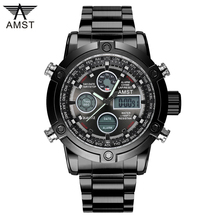 2017 Watch Men Top Brand AMST 3022 Dual Display Wristwatches Luxury Watches Sports Military 50M Waterproof Relogio Masculino