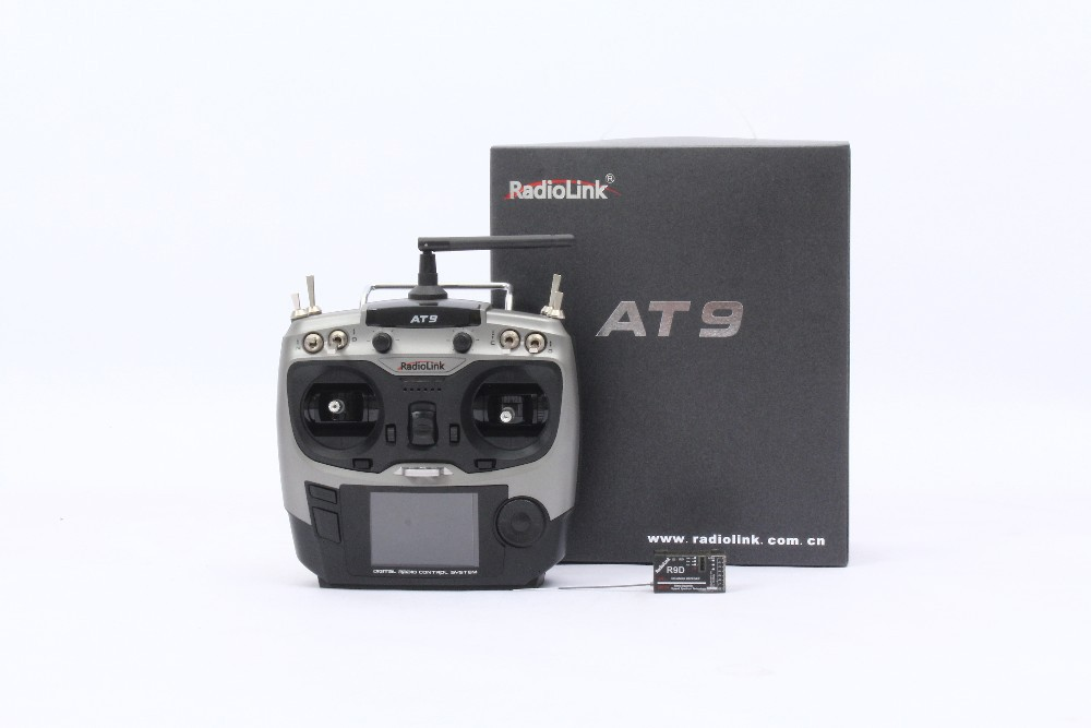 Radiolink AT9 2.4 GHz 9 Channel remote control Radio Transmitter and Receiver for RC Hobby freeshipping radiolink 2 4ghz 10 channel at10 transmitter radio
