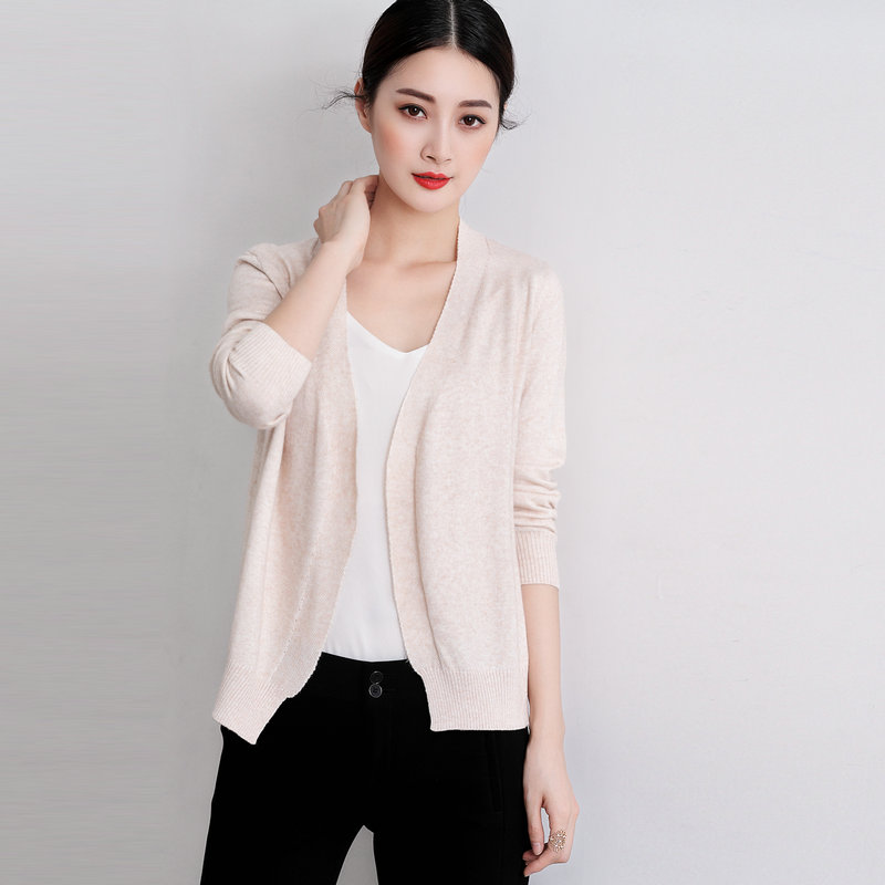 Spring autumnNEW lady Cashmere blended knitted Cardigan Sweater pure - Women's Clothing