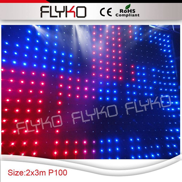 Free shipping p10 2x3m stage used led curtain display video screen