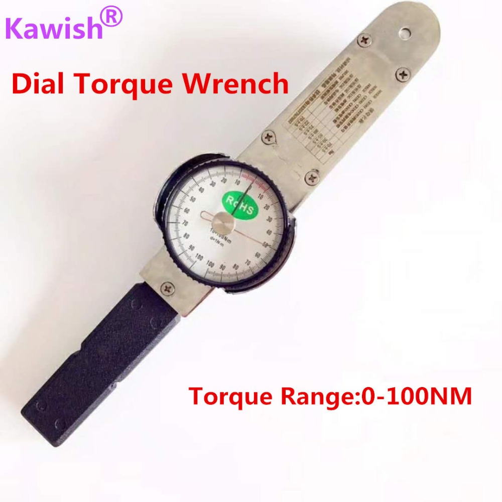 Kawish 1 2 0 100Nm Dial torque spanner High precision pointer hand tools torque wrench