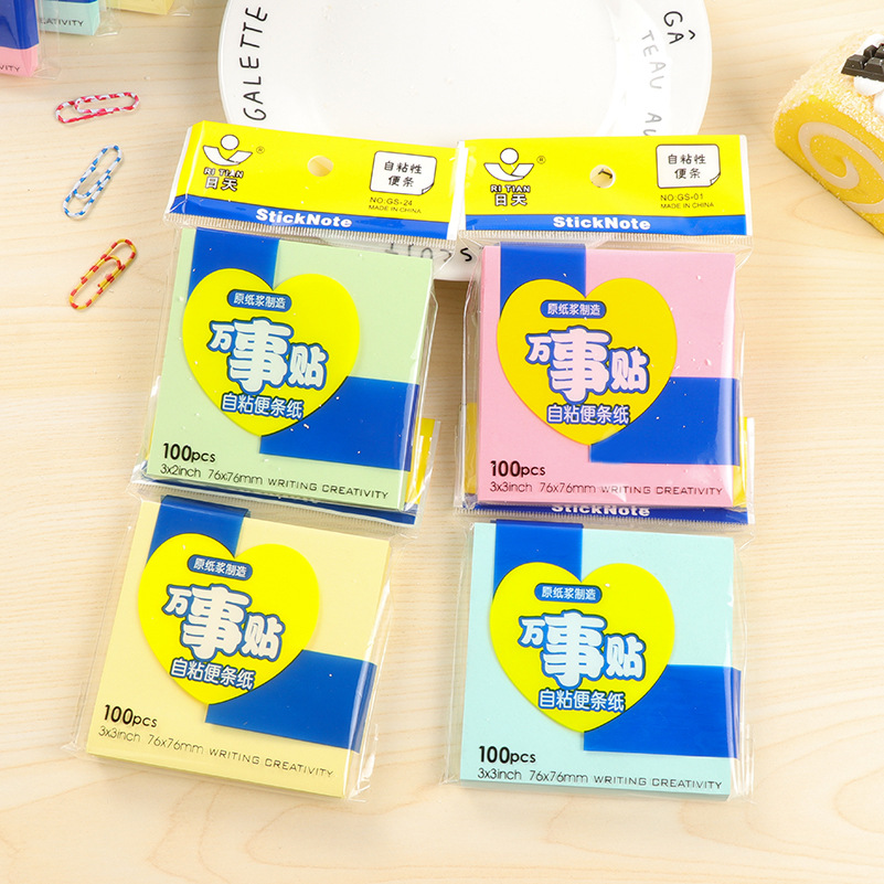 100Pcs/Pack Writing Creativity Useful Post It N Times Memo Pad Notebook Student Sticky School Label Gift E0071