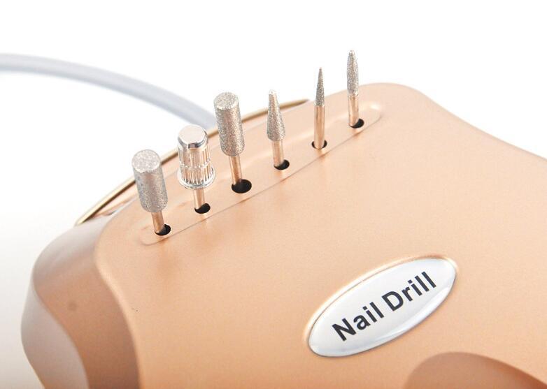 Сверлильный станок электрический сверлильный станок для удаления ногтей фрезерные инструменты маникюрный педикюр набор пилок для ногтей ручка наконечник набор для ногтей - 4
