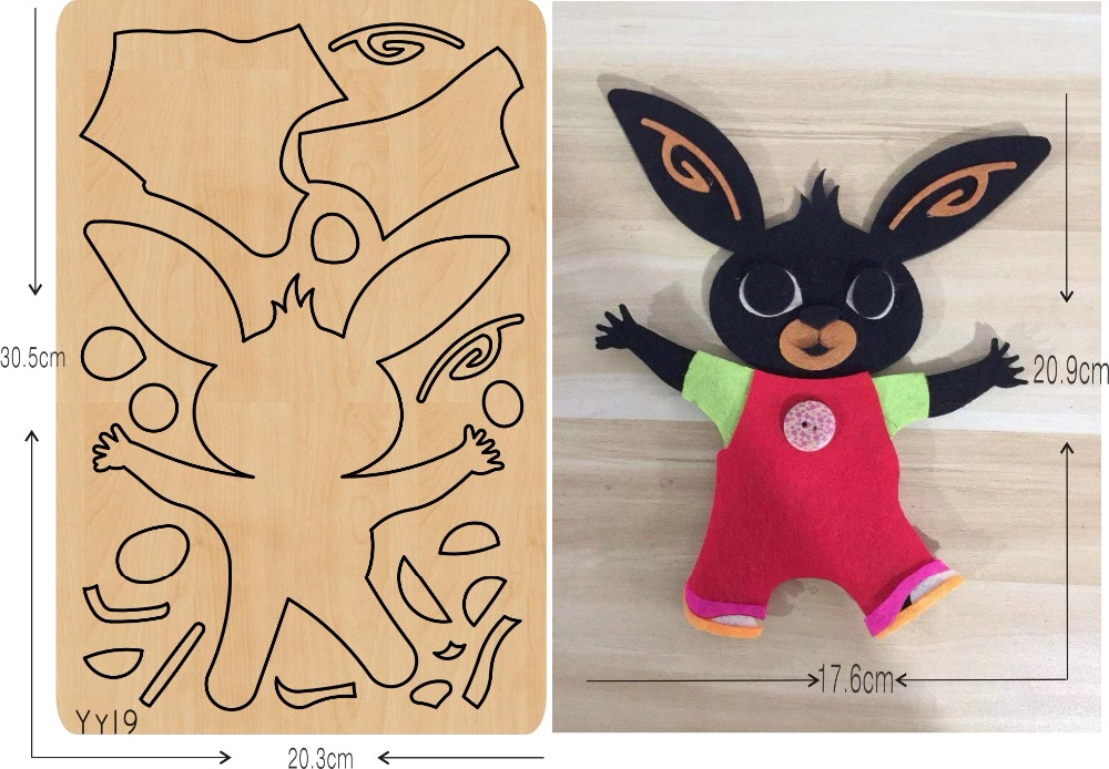 Elf doll DIY new wooden mould cutting dies for scrapbooking Thickness 15 8mm muyu YY19