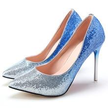 New Brand Fashion font b Women b font Pumps Red Bottom Thin High Heel Pumps Shoes