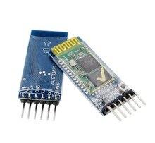 10 jogos/lote HC05 JY MCU anti reverso, módulo pass through serial Bluetooth integrado, HC 05 master slave 6pin
