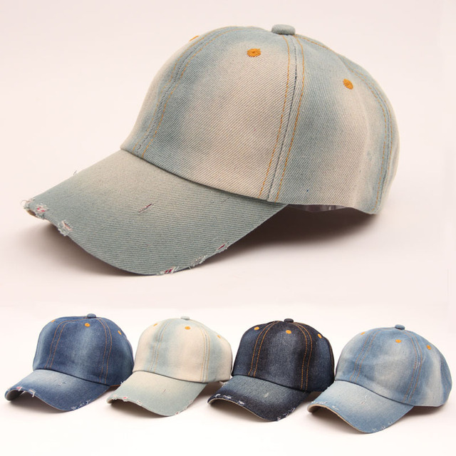Retail ! fashion Denim water wash retro women caps baseball cap Distress  snapback cap sun hat women casual hip hop casquette 7d3e97bc2309