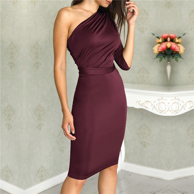 One Shoulder Bodycon Party Dresses 2