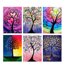 5D DIY diamond painting tree cross stitch colorful dream  full round embroidery rhinestone
