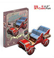 Mini Cubic Fun 3D Puzzle Retro classic cars car model assembled toys for children
