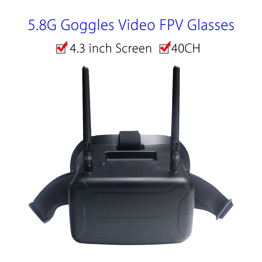 F2-11B 5.8G 40CH FPV Goggles Video Glasses 4.3 inch Screen W/Battery FOV 80 degree For Walkera Runner 250 FPV Drone FPV Monitor fpv package remote controller storage bag drone portable carrying case can place propeller tool video glasses battery monitor