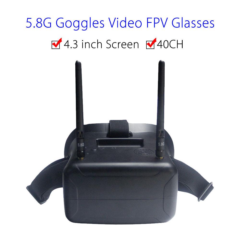 F2-11B 5.8G 40CH FPV Goggles Video Glasses 4.3 inch Screen W/Battery FOV 80 degree For Walkera Runner 250 FPV Drone FPV Monitor