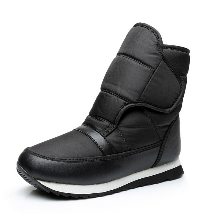2016 Frauen Stiefel Verdickung Thermische Wasserdicht Schnee Stiefel Baumwolle Stiefel Haken Outdoor Schnee Schuhe Rutschfeste Schuhe Und Ein Langes Leben Haben.