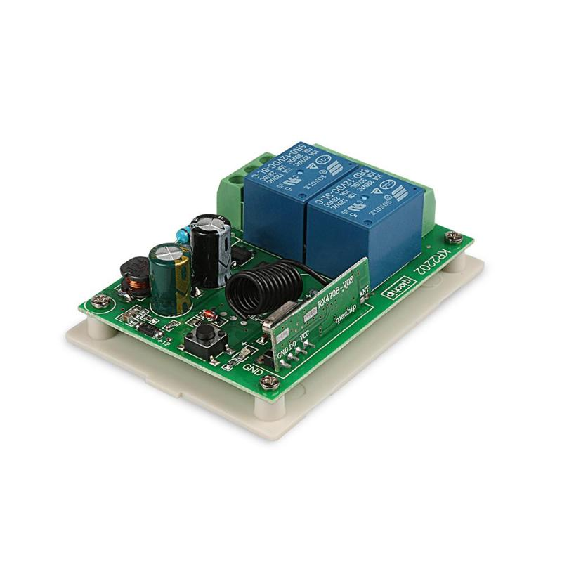 AC110V 220V 433MHz Universal Dual Channel Wireless Remote Control touch Switch Relay Receiver Module for 433 MHz RF Transmitter