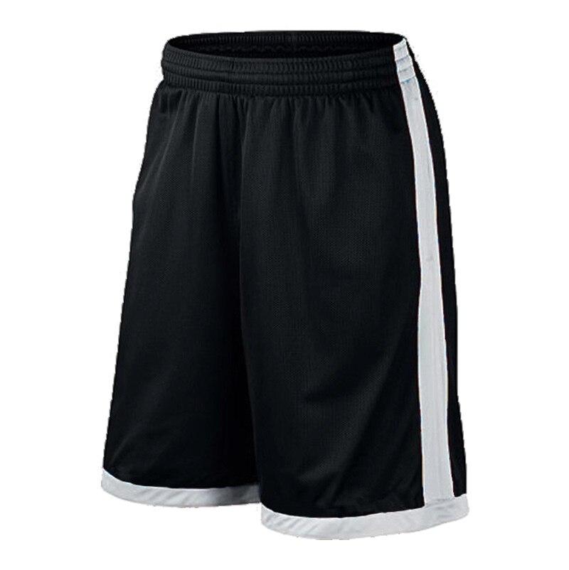 Баскетбольные шорты размера плюс, мужские спортивные шорты, мужские быстросохнущие баскетбольные шорты с карманами, баскетбольная майка высокого качества - Цвет: Black White