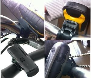 Image 3 - Black Computer Bicycle GPS Mount holder Bike stents For Garmin OREGON 450 / ORERON 550 bracket base and tie Fixed belt