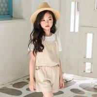 Children S Jumpsuit Summer 2018 Children S Wear New Children S Cotton Condole Belt Pants Fashion