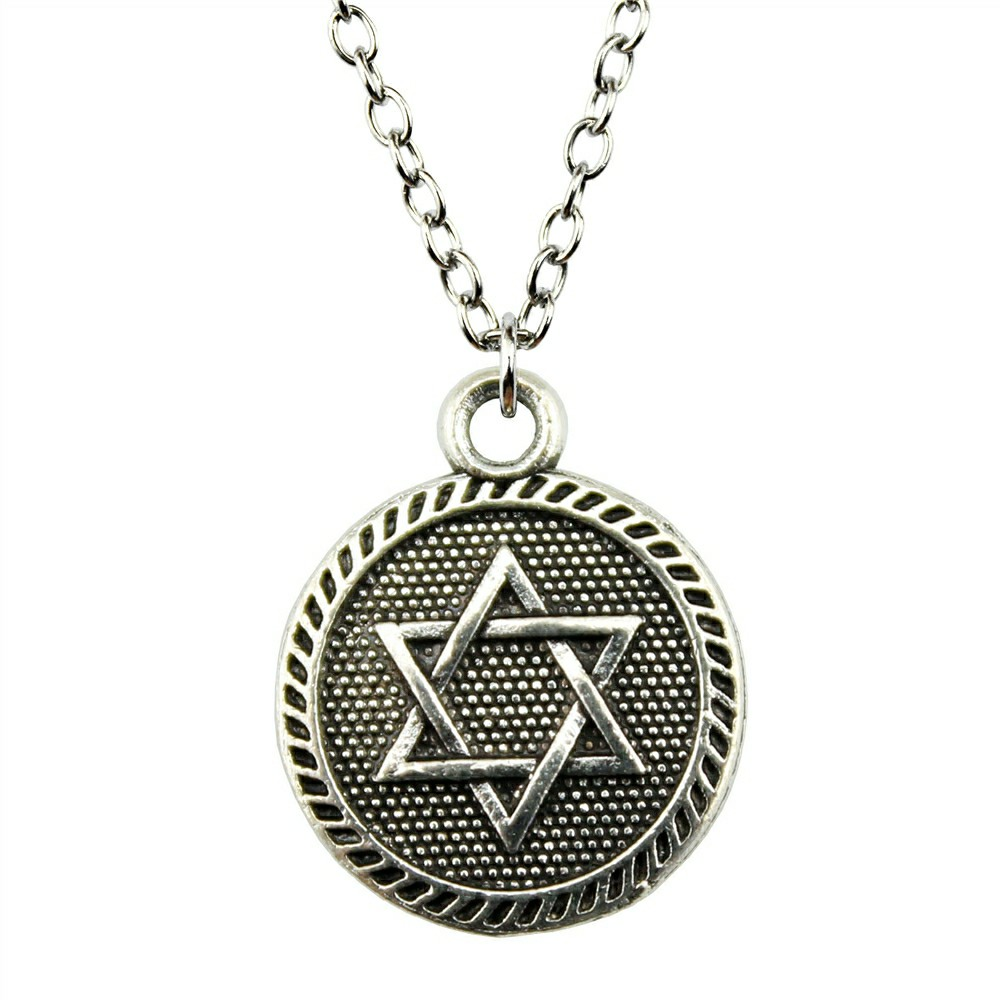 15mm Double Sided Star Of David Necklace Pendant For Women ...