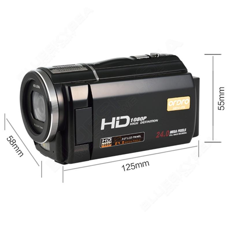 "ORDRO HDV-F5 1080P Digital Video Camera Max 24MP 16X Anti-shake 3.0"" Touch Screen LCD Camcorder DV With Remote Controller 17"