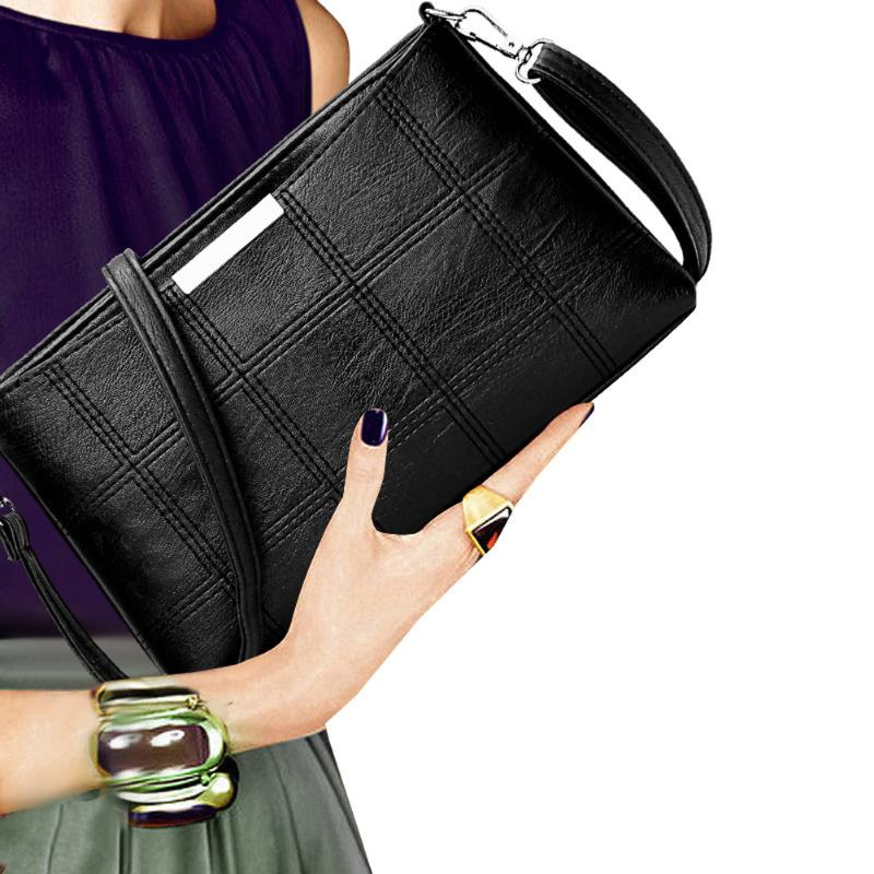 Fashionable Women Handbag PU Leather Plaid Messenger Bag Autumn Women Crossbody Shoulder Bags Brand Female Top Handle Handbag open shoulder plaid top