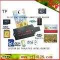 Multifunción usb 48 in1 lector de tarjeta inteligente de contacto ic chip # scr80 para sd y sd micro y MS y m2 y sim y tarjeta inteligente con sdk cd envío gratis