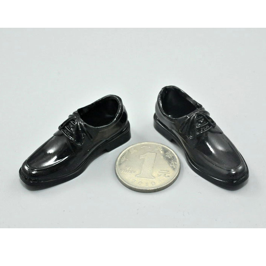 1/6 Black Shoes for 12